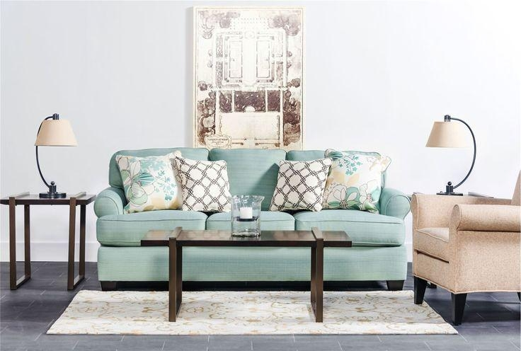 Daystar Seafoam Sofa | Living Spaces, Spaces And Living Rooms With Regard To Seafoam Sofas (Image 5 of 20)