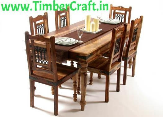 Dazzling Dining Table Rates Sheesham Wood 6 Seater Dining Table Throughout Sheesham Wood Dining Tables (Image 2 of 20)