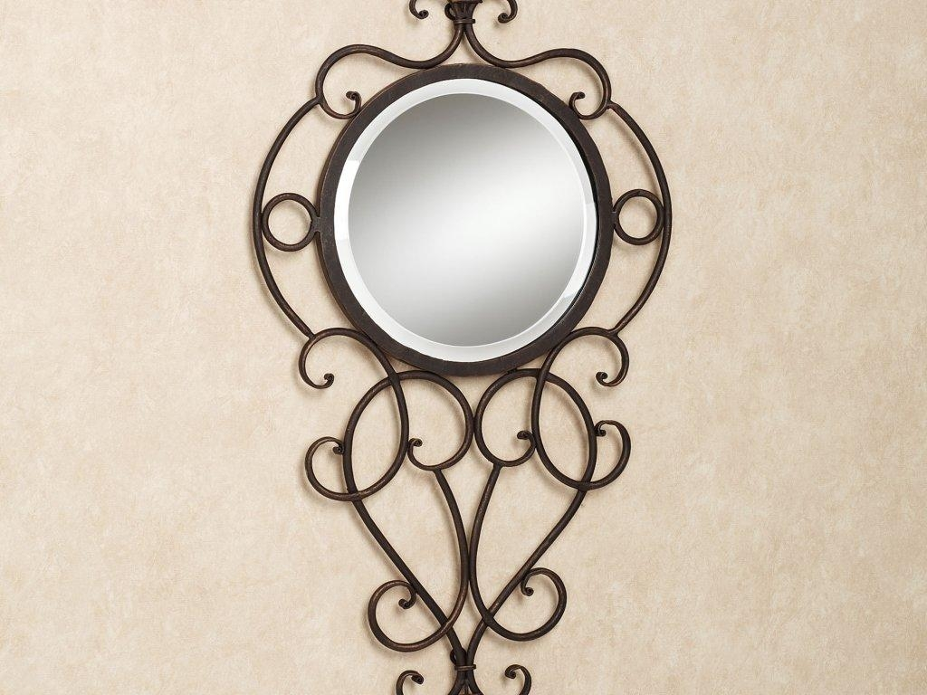 Decor : 53 Round Wall Mirror Mirror Wrought Iron Wall Decor Metal Intended For Wrought Iron Bathroom Mirrors (Image 12 of 20)