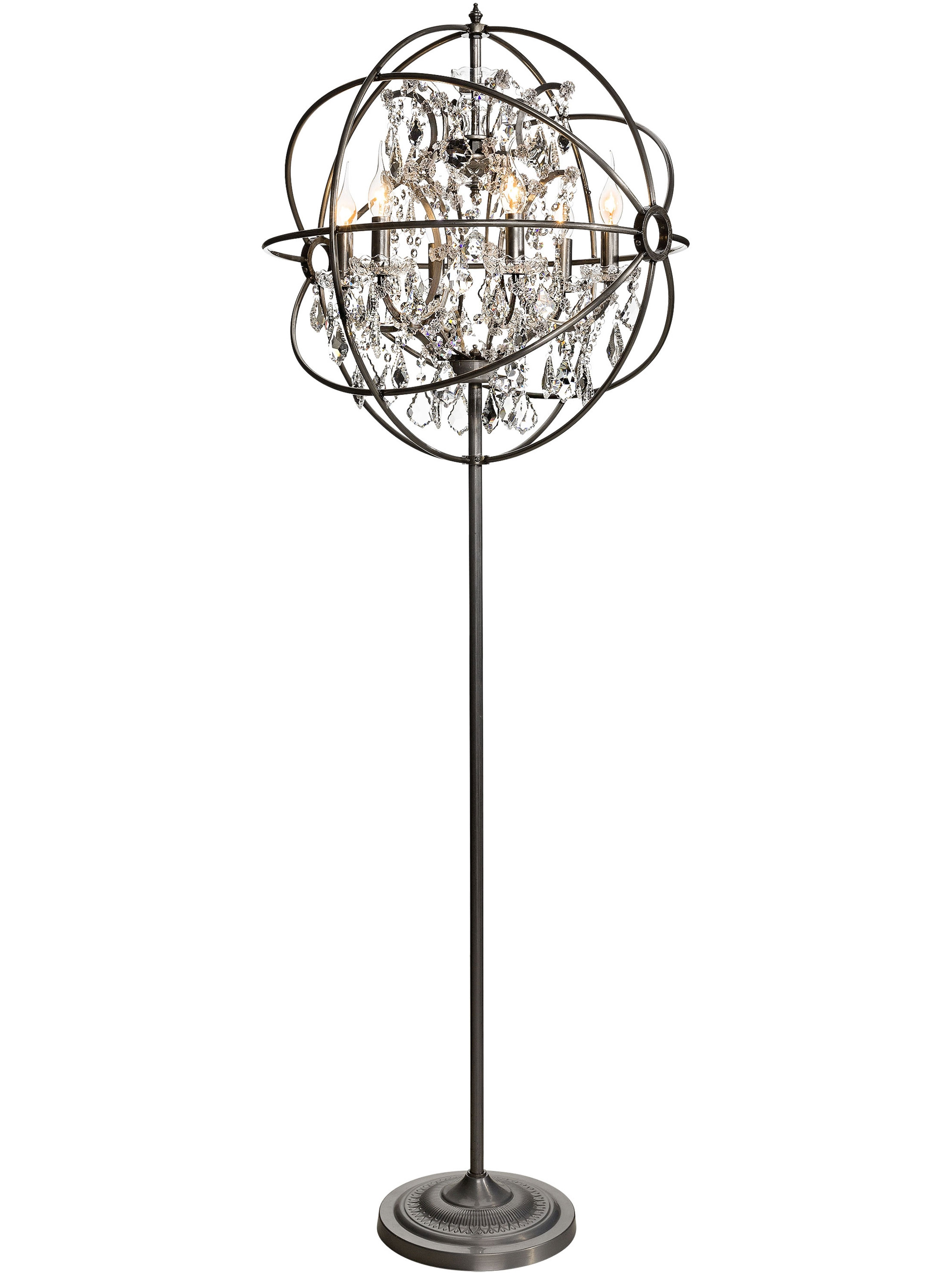 Decor Adorable Chandelier Floor Lamp Remodeling In Brass Gold Intended For Chandelier Standing Lamps (Image 6 of 25)