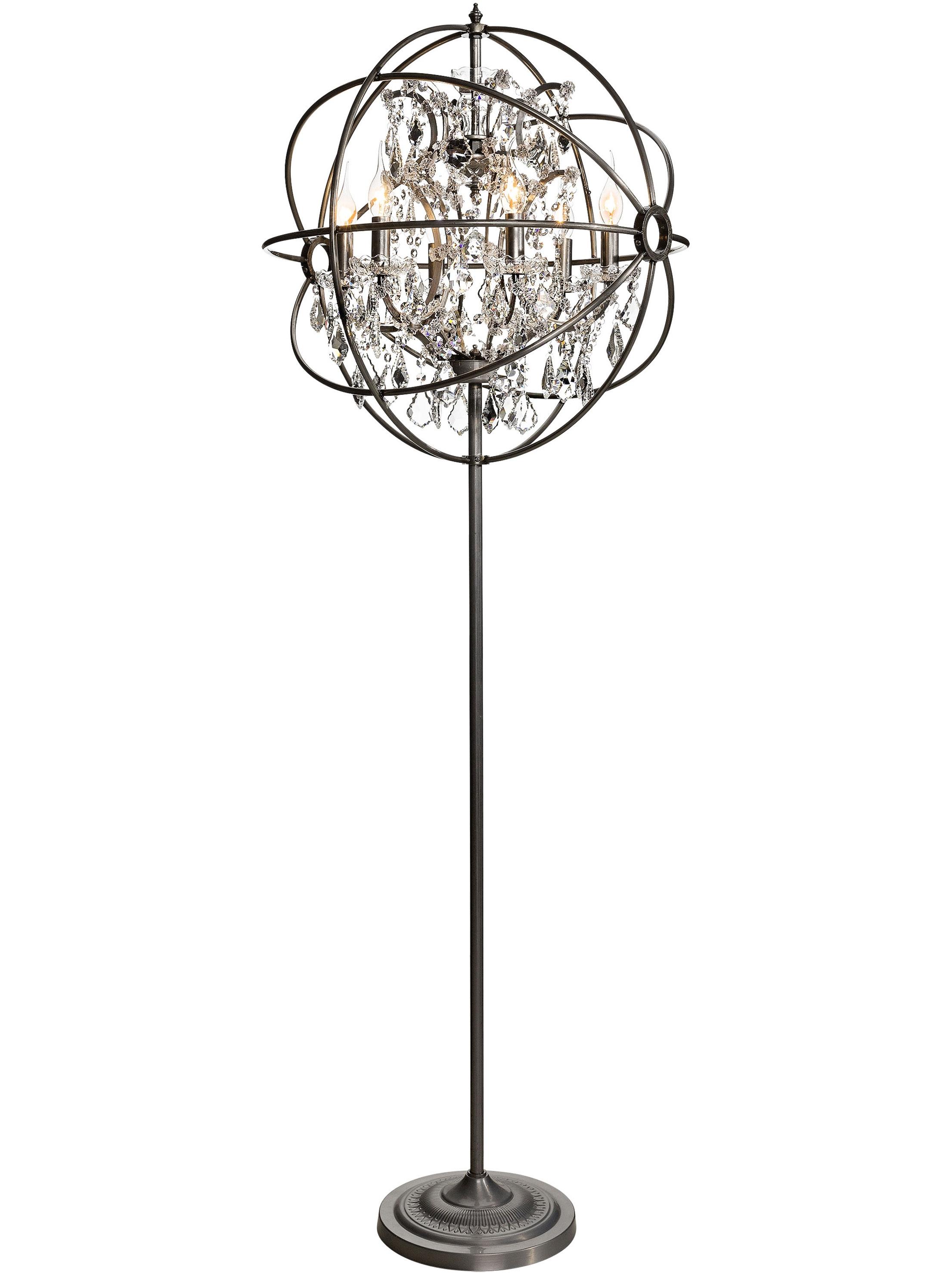 Decor Adorable Chandelier Floor Lamp Remodeling In Brass Gold Regarding Standing Chandelier Floor Lamps (Image 5 of 25)