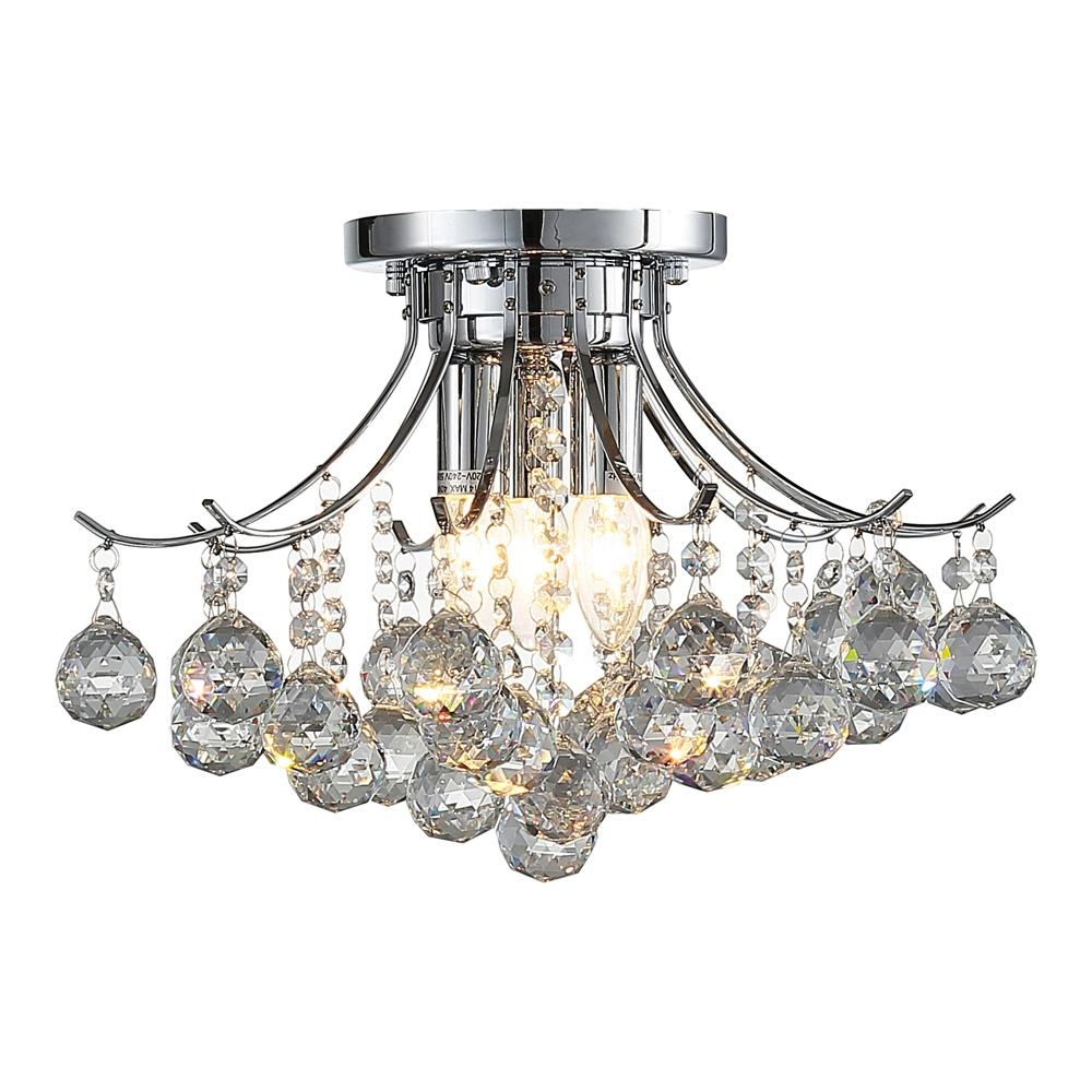 Decor Living 3 Light Crystal And Chrome Chandelier 104327 15 The In 3 Light Crystal Chandeliers (Image 7 of 25)