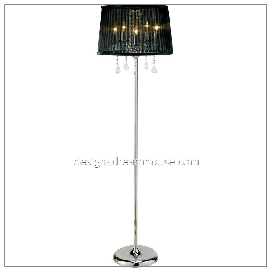 Decor Wonderful Chandelier Floor Lamp For Fascinating Home Pertaining To Black Chandelier Standing Lamps (Image 14 of 25)