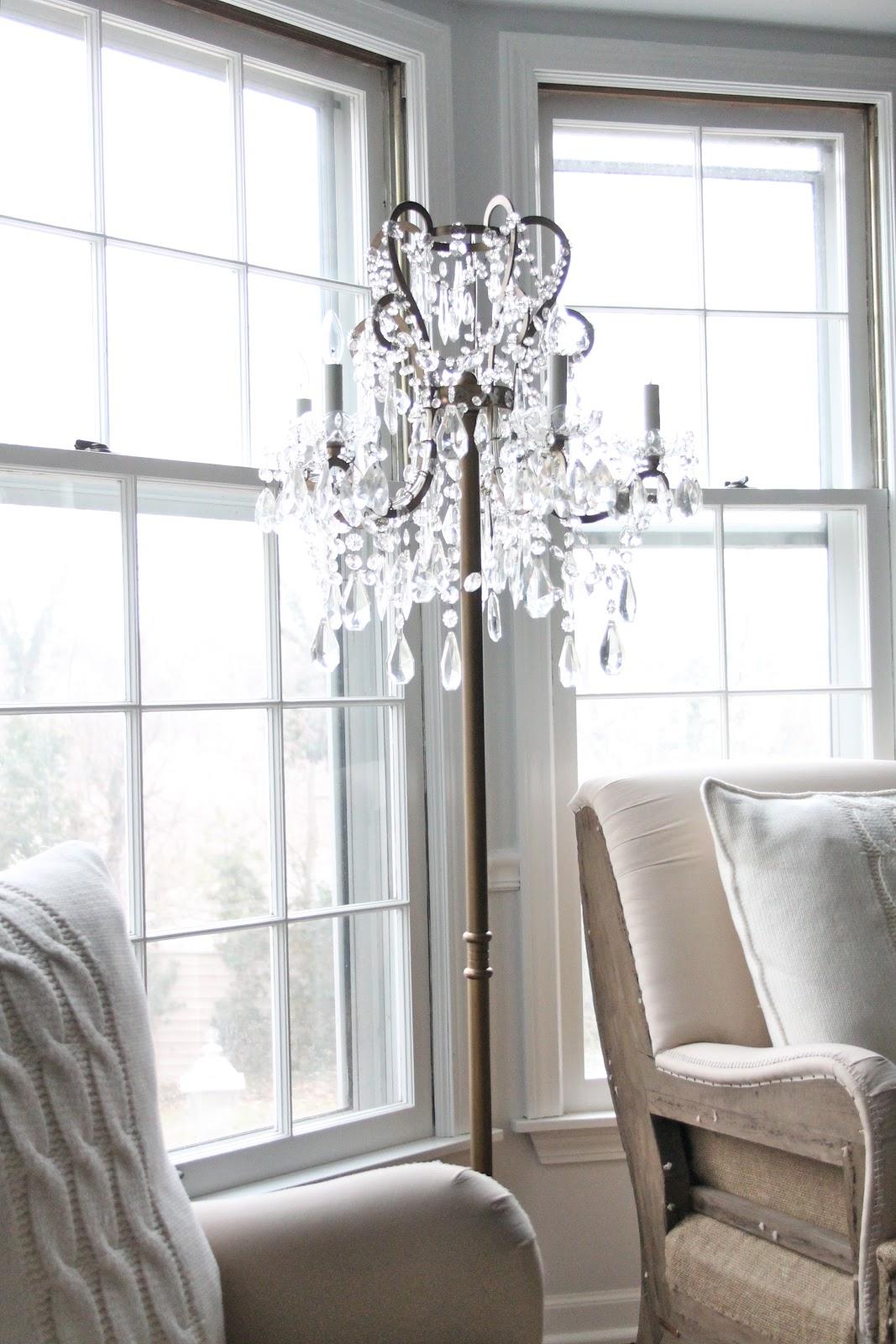 Decor Wonderful Chandelier Floor Lamp For Fascinating Home Regarding Standing Chandelier Floor Lamps (Image 9 of 25)