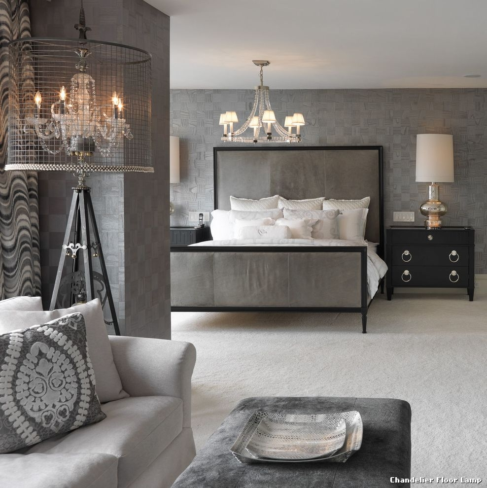 Decor Wonderful Chandelier Floor Lamp For Fascinating Home Regarding Tall Standing Chandelier Lamps (View 16 of 25)