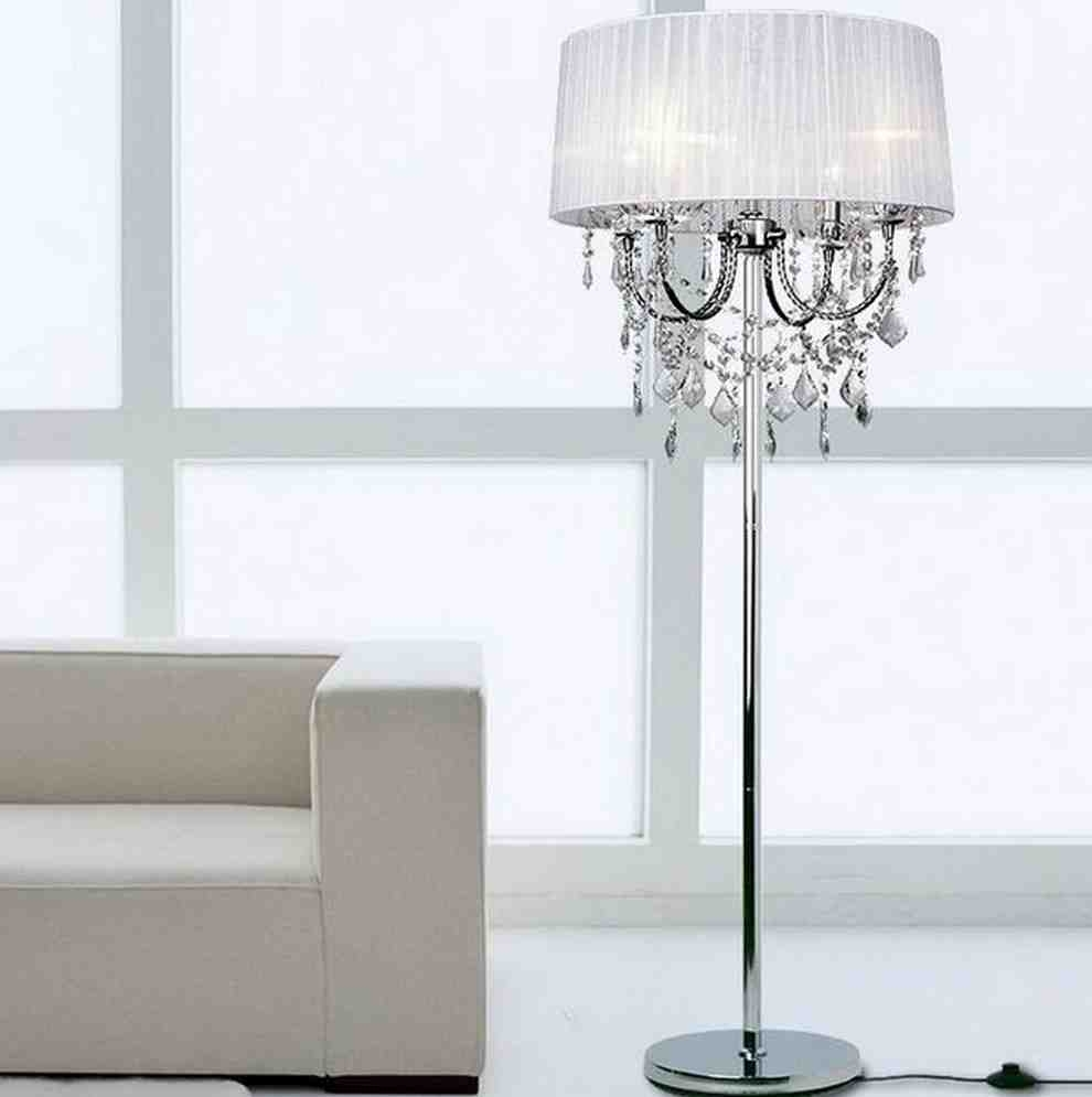 Decor Wonderful Chandelier Floor Lamp For Fascinating Home With Regard To Chandelier Standing Lamps (Image 9 of 25)