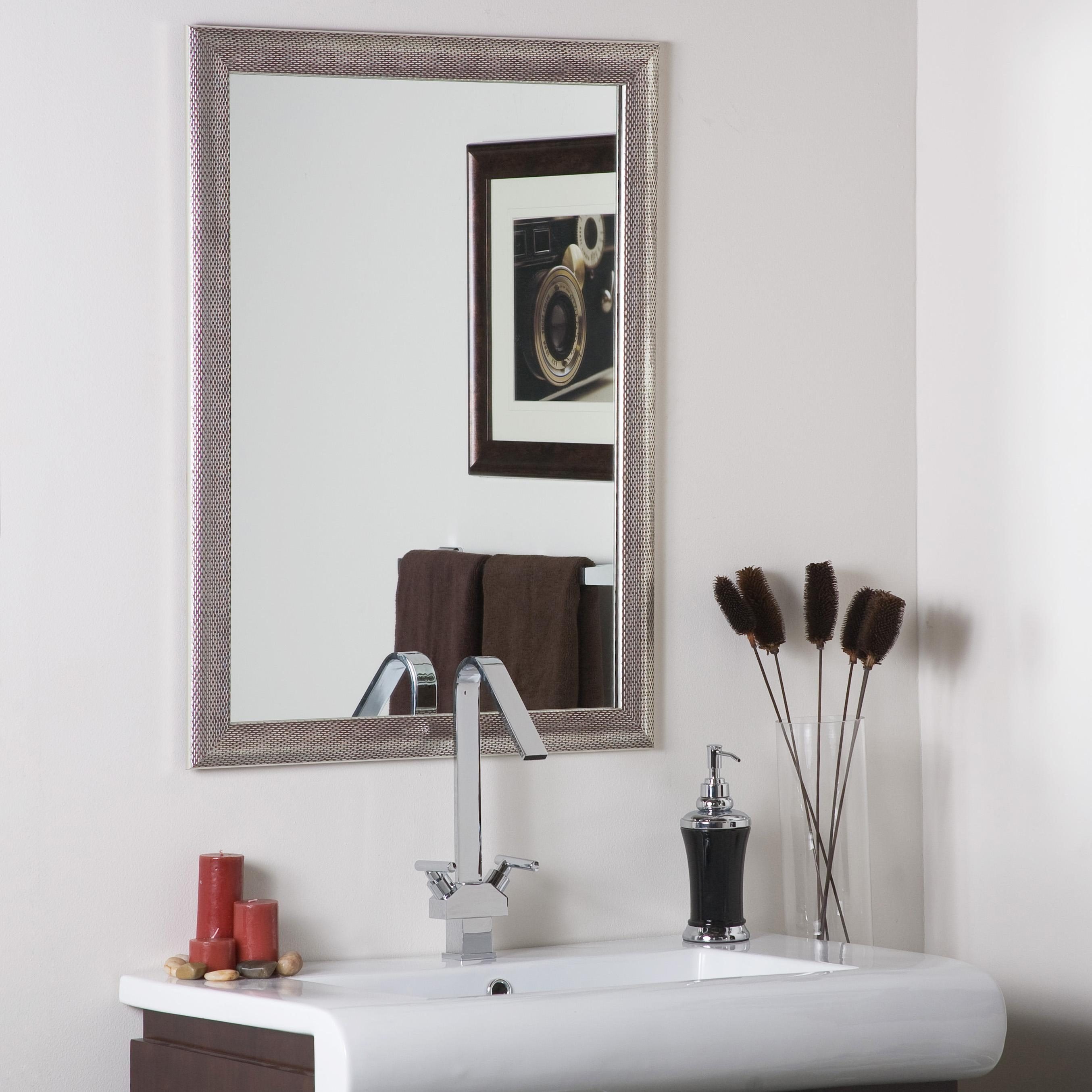 Decor Wonderland Modern Silver Mirror – Beyond Stores Throughout Modern Silver Mirror (Image 5 of 20)