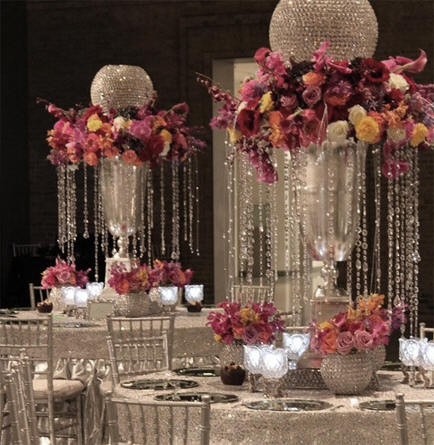 Decorate My Wedding Crystal Beads Strands Pendants Garlands With Regard To Faux Crystal Chandelier Centerpieces (Image 17 of 25)
