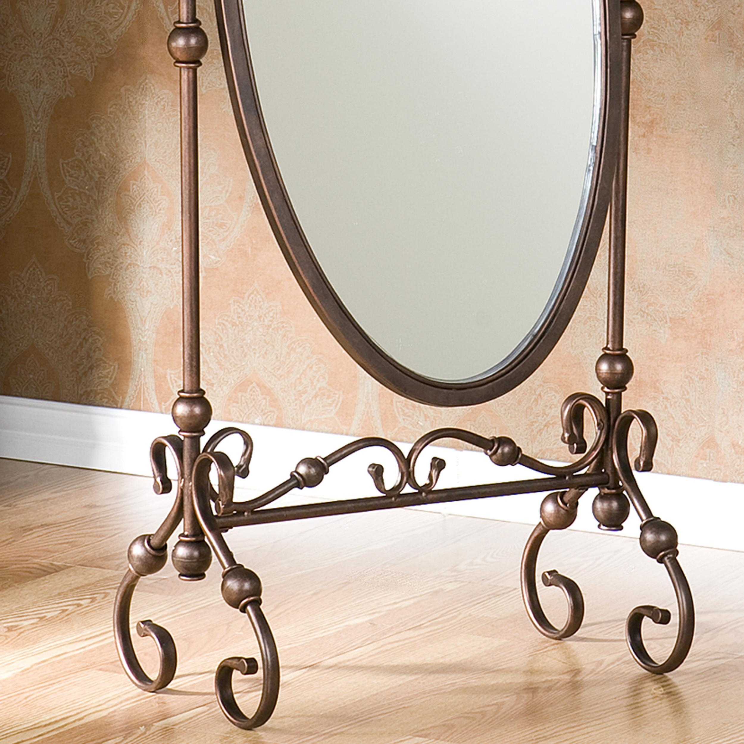Decorating: Amusing Cheval Mirror For Home Furniture Ideas — Mtyp For Black Wrought Iron Mirrors (Image 7 of 20)