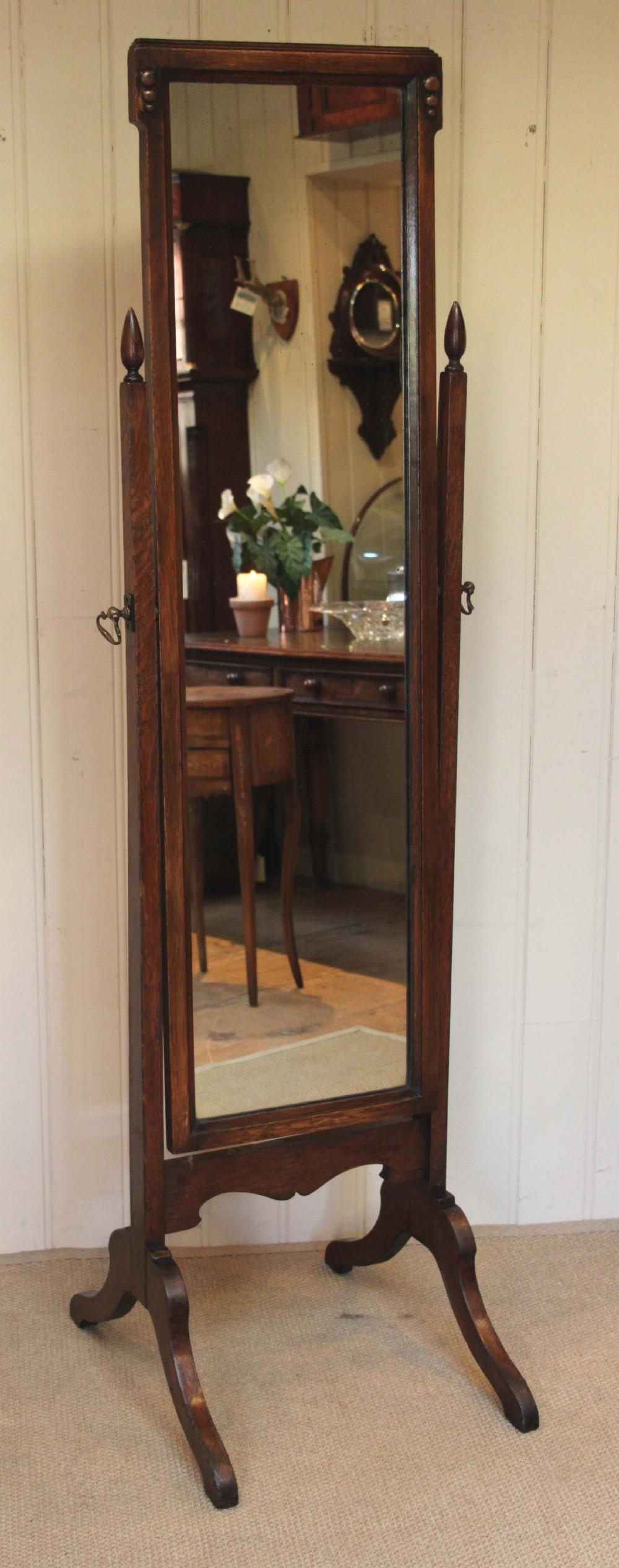 Decorating: Amusing Cheval Mirror For Home Furniture Ideas — Mtyp Pertaining To Free Standing Oak Mirror (Image 5 of 20)