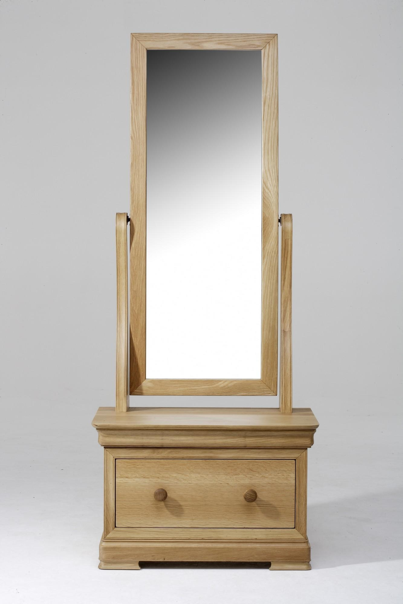 Decorating: Amusing Cheval Mirror For Home Furniture Ideas — Mtyp Throughout Free Standing Mirror With Drawer (Image 7 of 20)