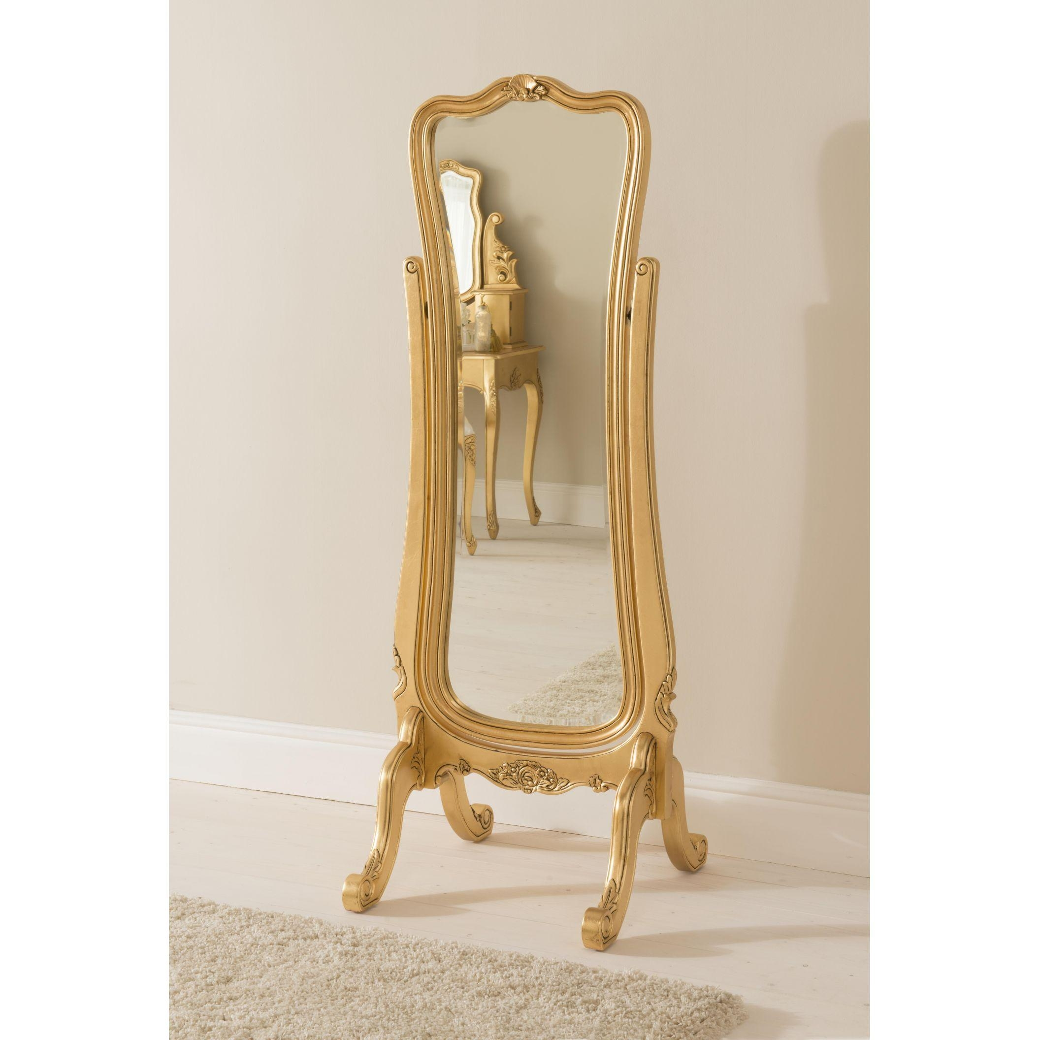 Decorating: Antique Wooden Cheval Mirror With Wooden Floor And For Baroque Floor Mirror (Image 11 of 20)