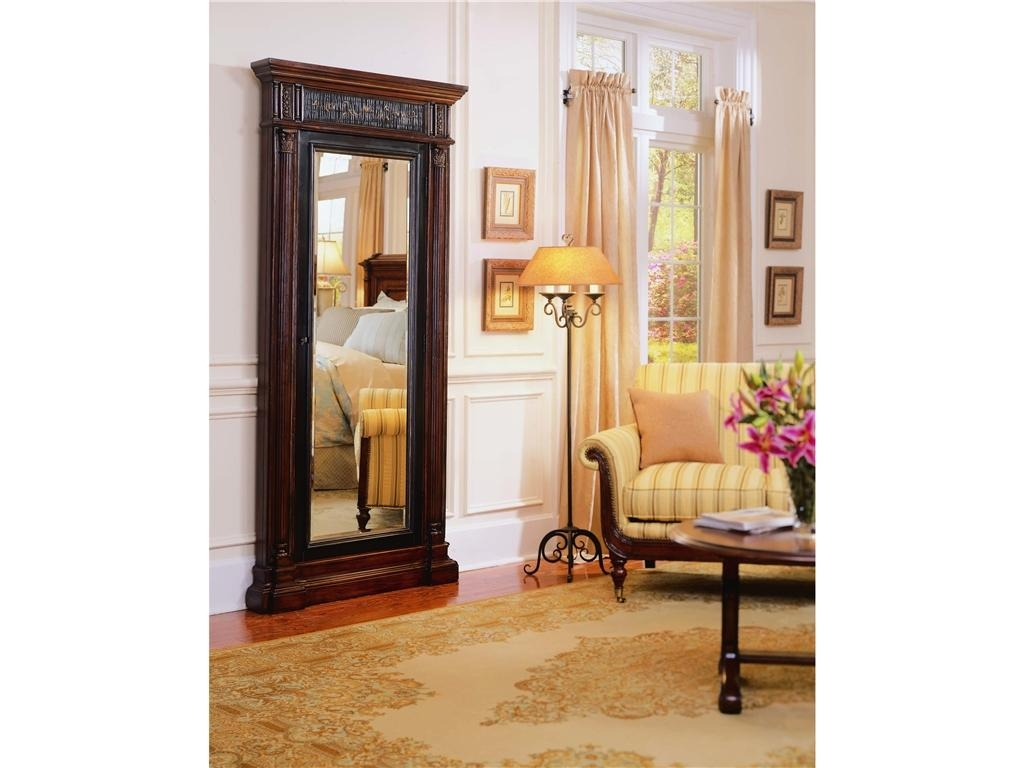 Decorating: Charming Wooden Standing Mirror Jewelry Armoire In Pertaining To Cream Floor Standing Mirror (Image 7 of 20)