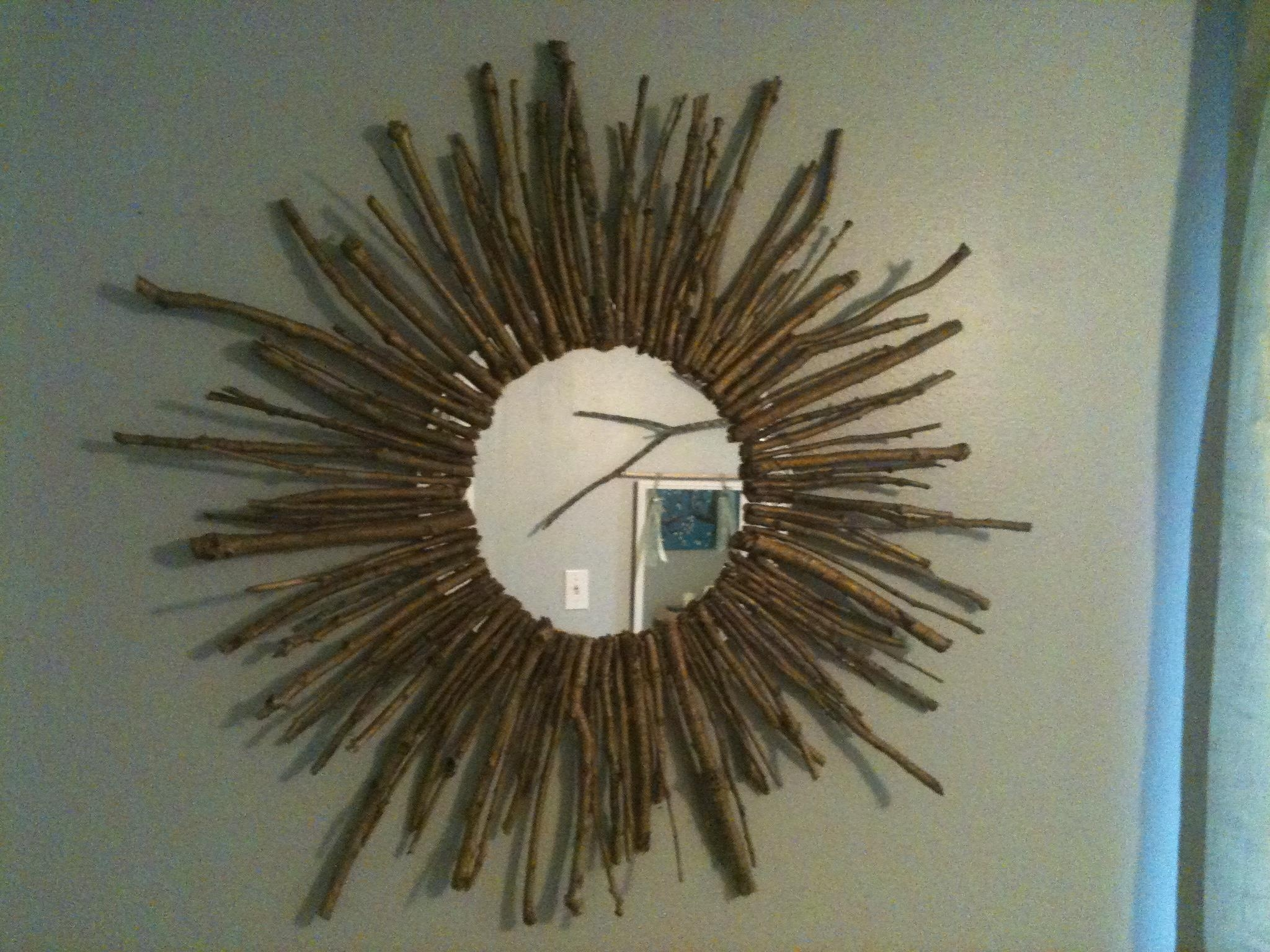 Decorating: Make Your Wall More Beautiful With Gold Sunburst Mirror With Regard To Bronze Starburst Mirror (Image 4 of 21)