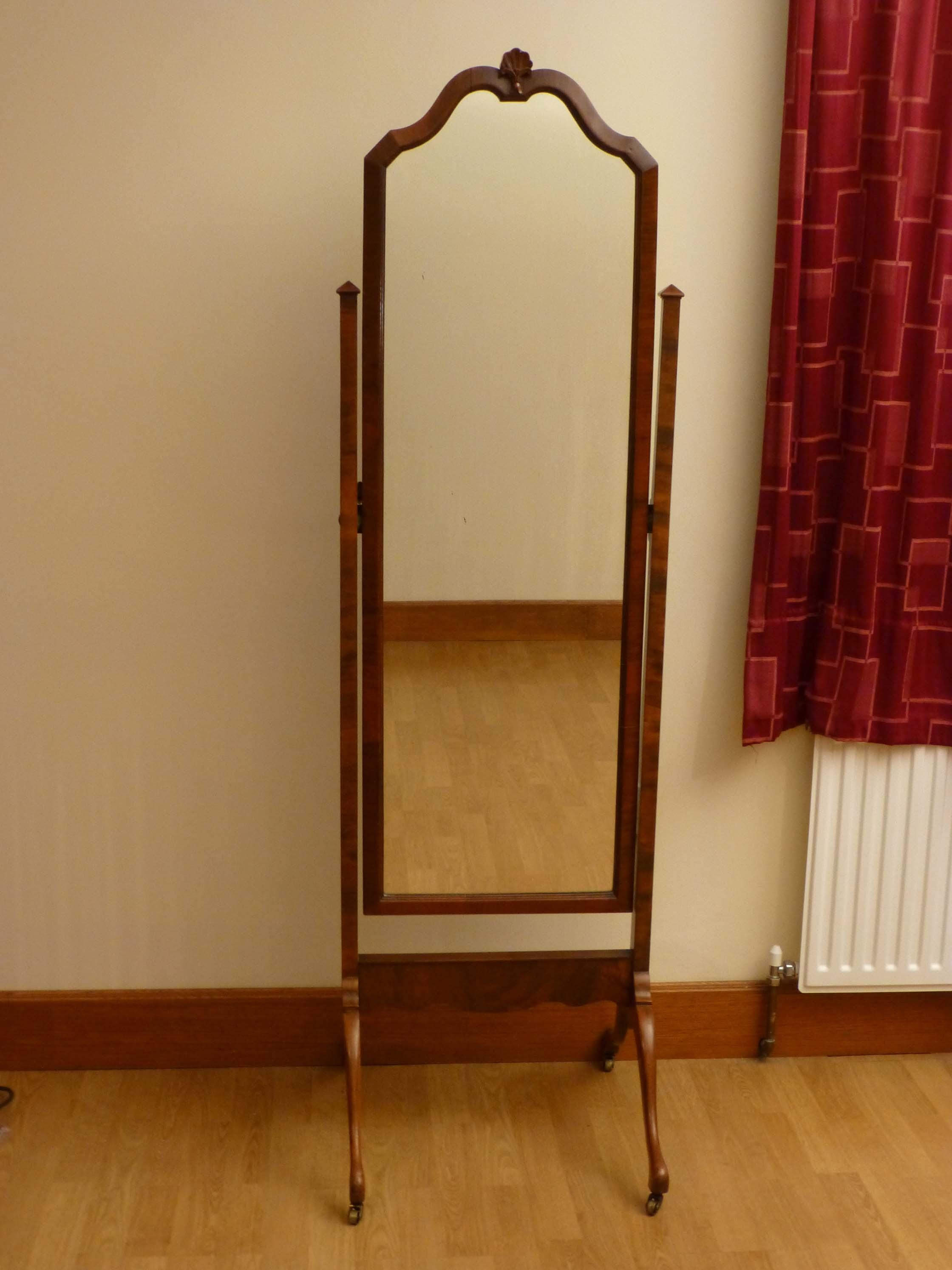 Decorating: Powell Mission Oak Cheval Mirror With Tile Floor And With Free Standing Oak Mirror (Image 9 of 20)