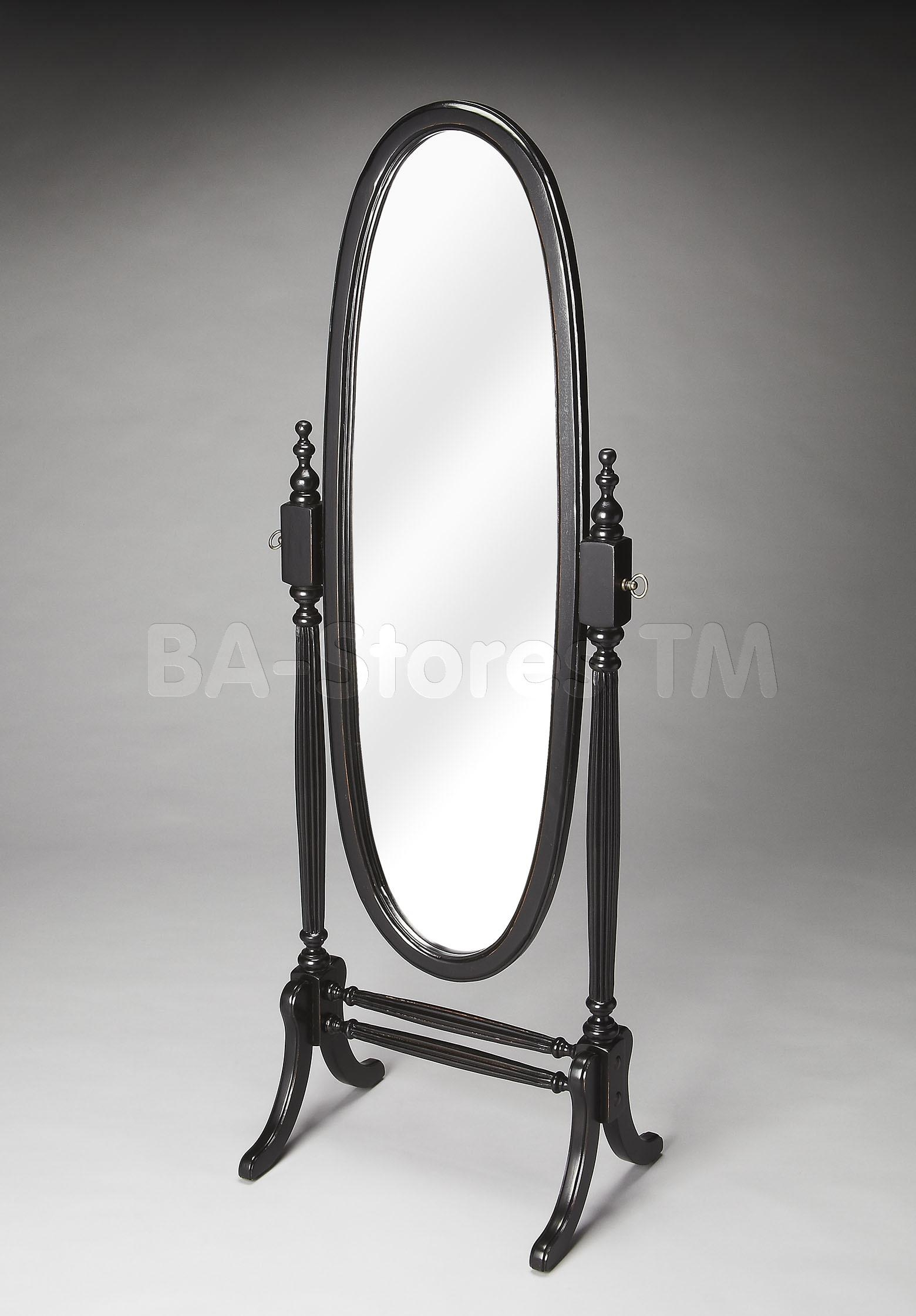 Decorating: Wooden Cheval Mirror With Single Drawer And Cherry For Wrought Iron Standing Mirror (Image 5 of 20)