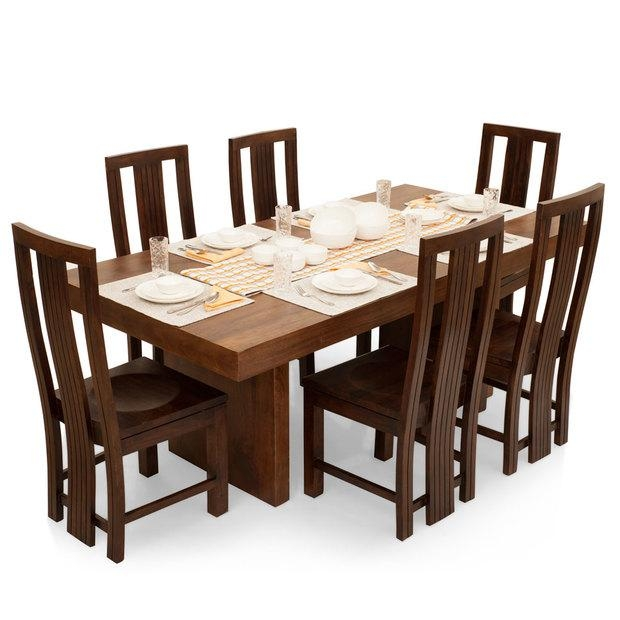 Decorative 6 Seater Dining Table And Chairs 250X250 Chair | Uotsh For 6 Seat Dining Tables (Image 9 of 20)