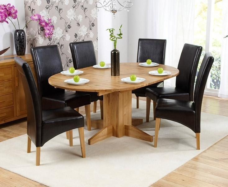 Decorative 6 Seater Dining Table And Chairs Adorable Round Set With Regard To Round 6 Seater Dining Tables (Image 8 of 20)