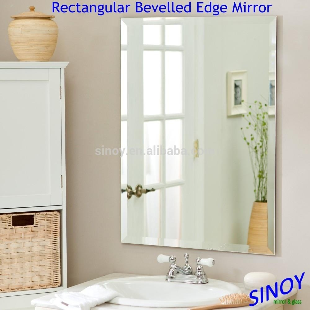 Decorative Bevelled Edge Frameless Mirror Glass In Irregular With Regard To Bevelled Glass Mirrors (Image 8 of 20)