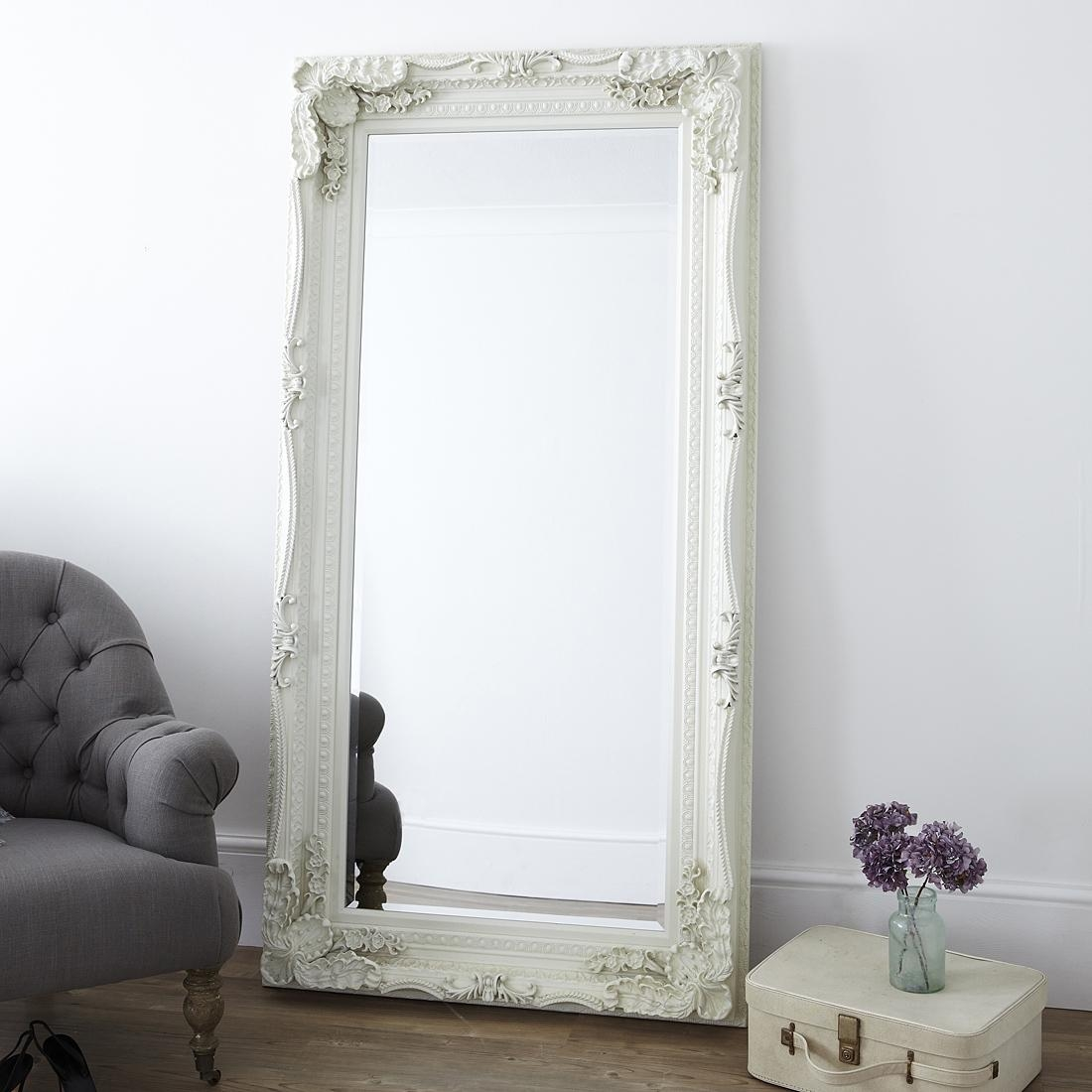 Decorative Cream Full Length Mirror – Primrose & Plum Intended For French Style Full Length Mirror (Image 10 of 20)