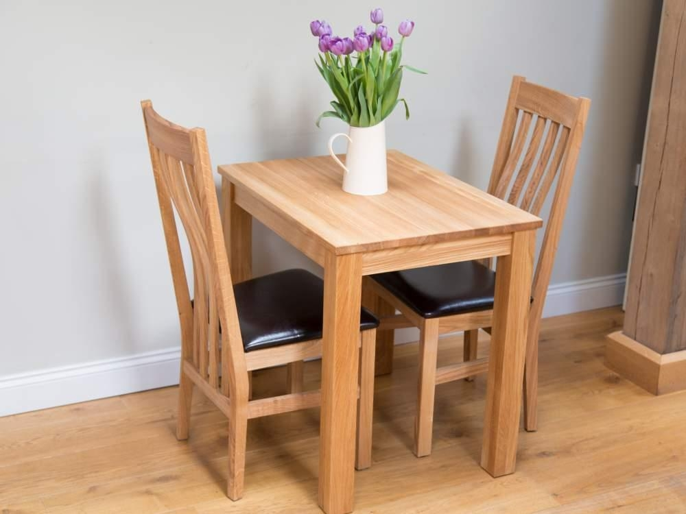 Decorative Dining Table And 2 Chairs Set Small Clear Glass Faux In Regarding Two Person Dining Table Sets (View 3 of 20)