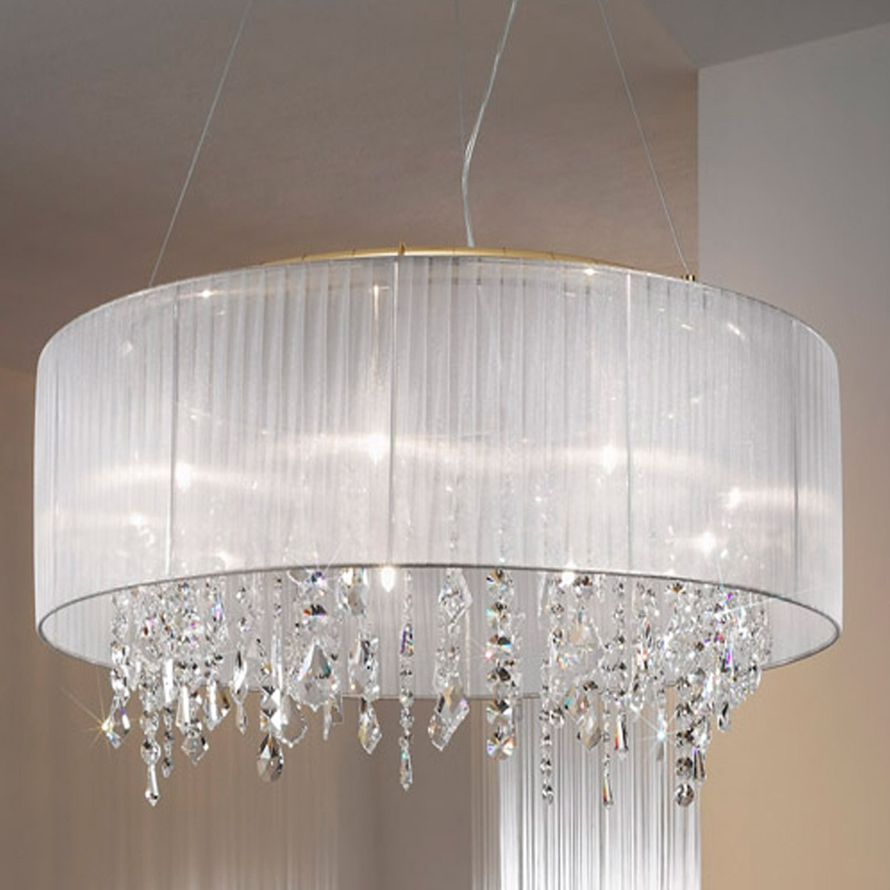 Decorative Lamp Shades For Chandeliers Best Home Decor Inspirations Intended For Chandeliers With Lamp Shades (Image 14 of 25)