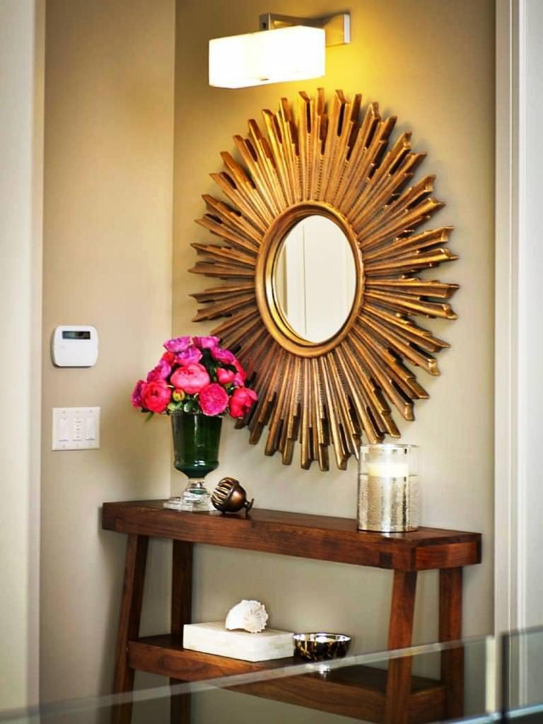 Decorative Large Hallway Mirrors Ideas Intended For Decorative Round Mirrors (Image 1 of 20)