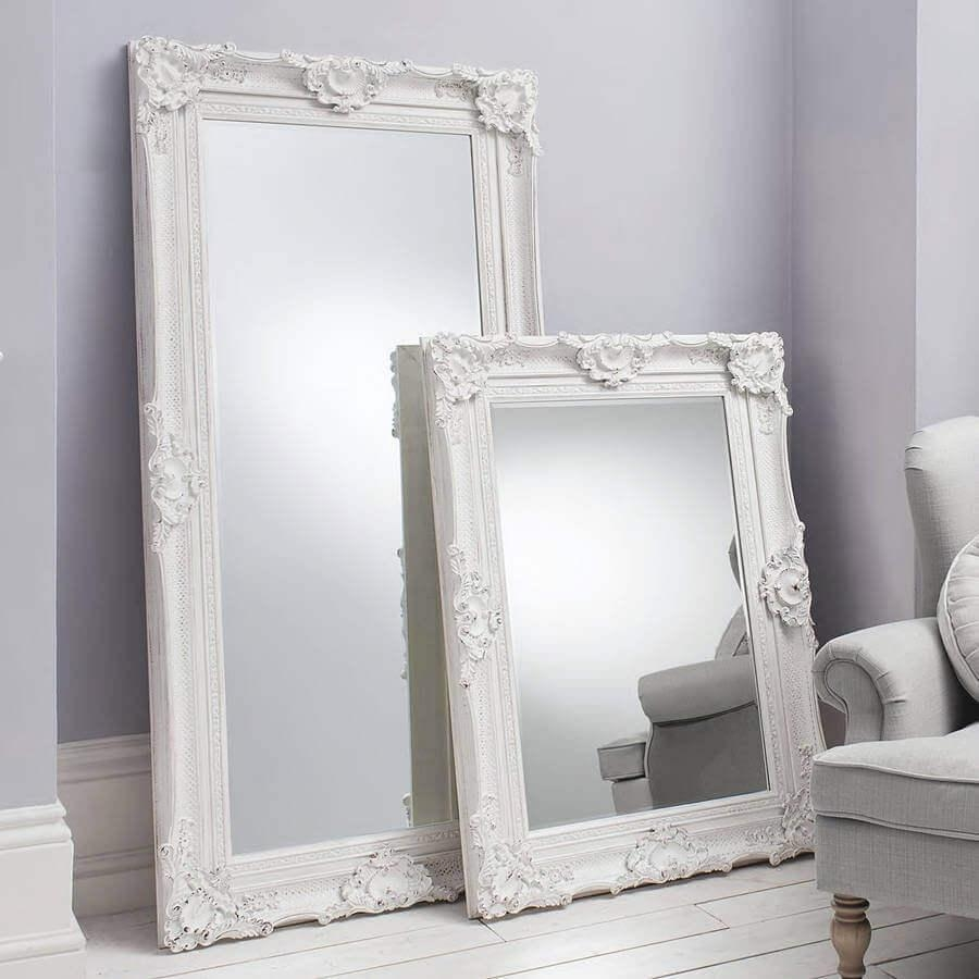 Decorative Ornate Mirrors : Wall Vs Floor, Which One Better Pertaining To Ornate White Mirrors (Photo 3 of 20)