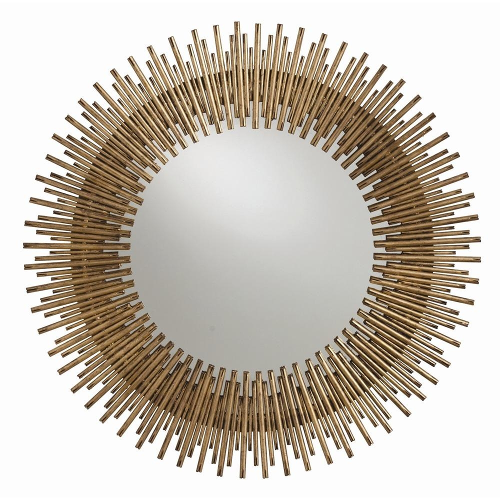 Decorative Round Mirrors For Walls | Vanity Decoration With Large Round Gold Mirror (Image 3 of 20)