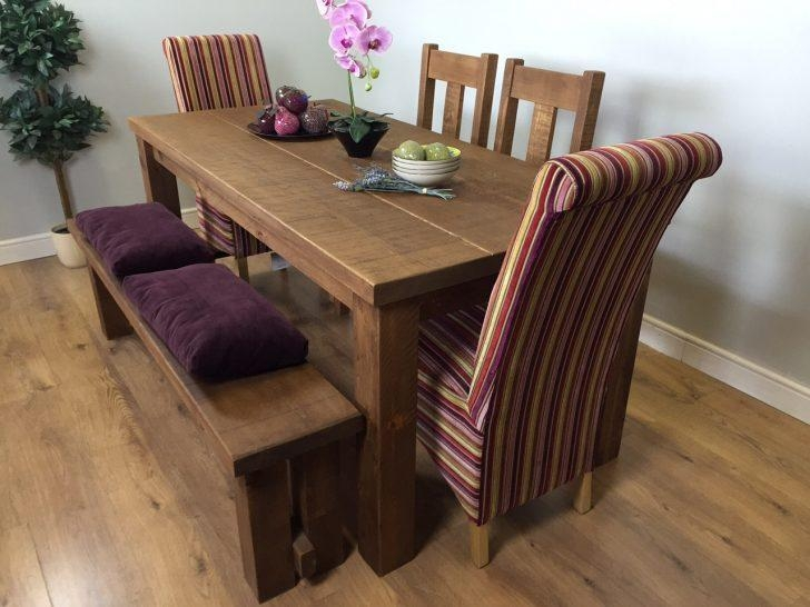 Decorative Solid Wood Dining Table With 2 Bench Above Laminate Throughout Dining Tables And 2 Benches (Image 8 of 20)