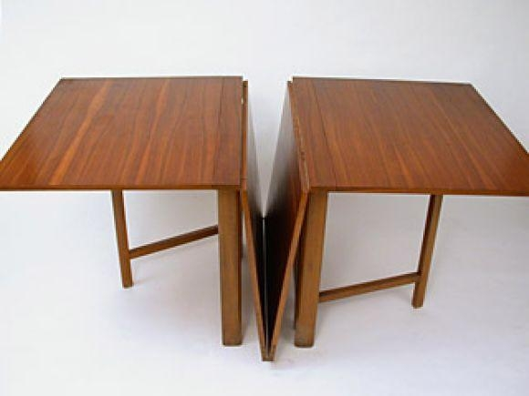Delightful Contemporary Drop Leaf Dining Table Intended For Large Folding Dining Tables (Image 10 of 20)