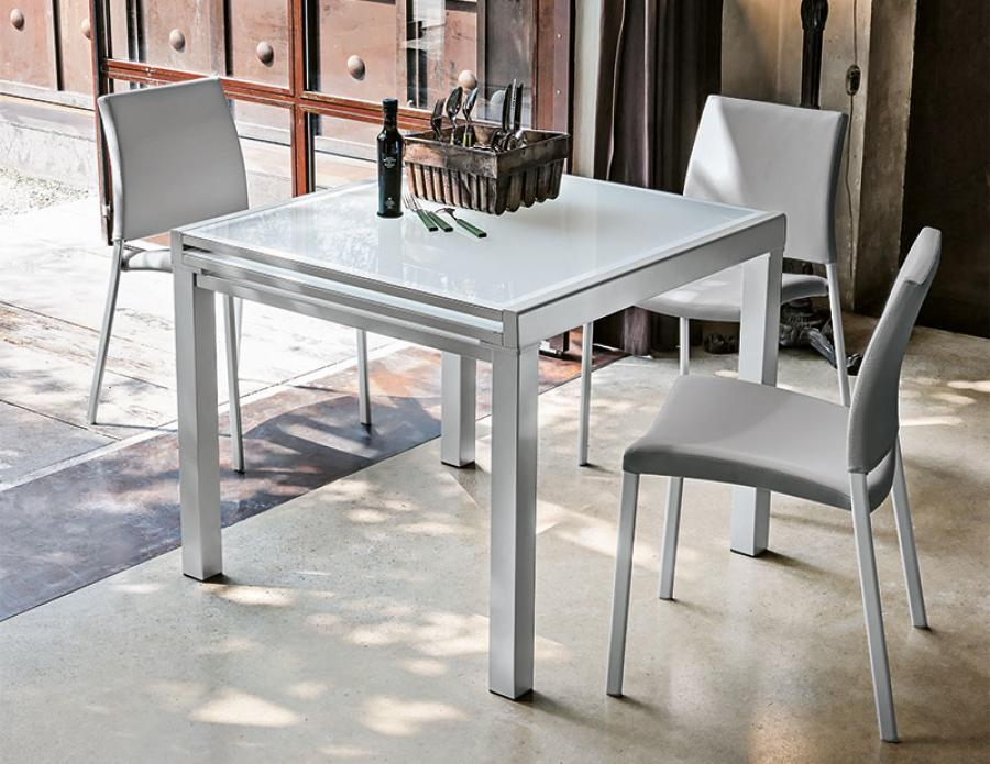 Delightful Ideas Extendable Square Dining Table Stylist Design Intended For Contemporary Extending Dining Tables (Image 7 of 20)
