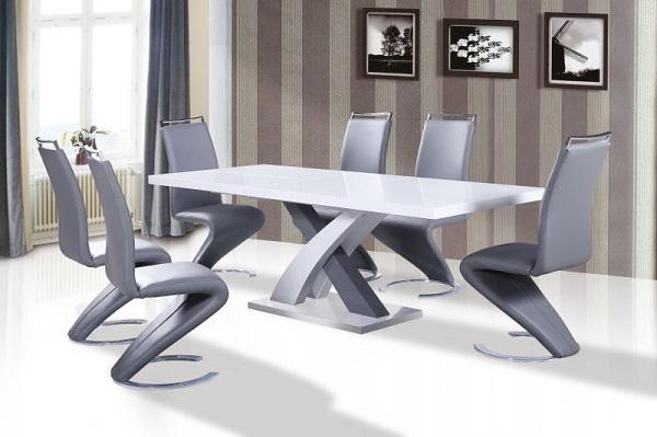 Delightful White Dining Tables And Chairs Alluring Gloss Table 6 With White Dining Tables With 6 Chairs (View 19 of 20)