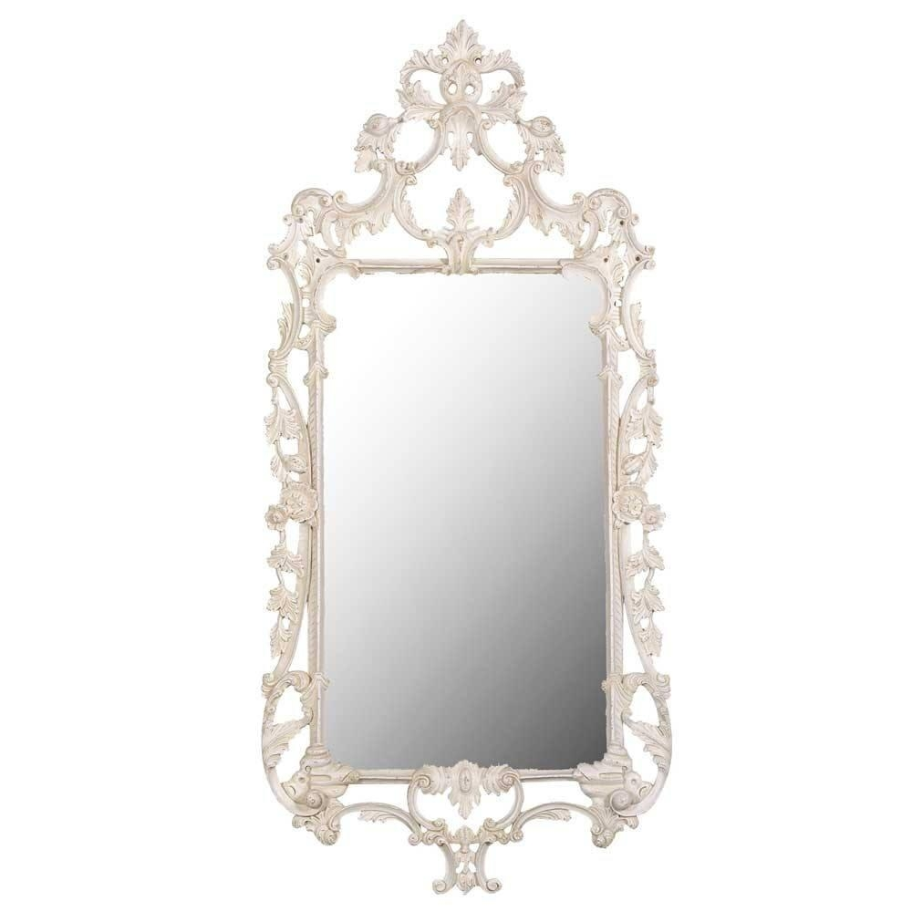 Delphine Distressed Shabby Chic Mirror | Luxury Mirror Inside French Shabby Chic Mirror (View 6 of 20)