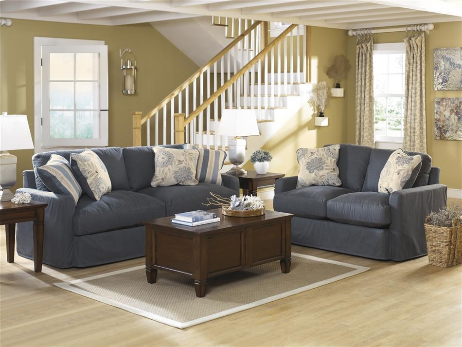 Denim Living Room Furniture Denim Living Room Set From Ashley Regarding Denim Sofas And Loveseats (Image 11 of 20)
