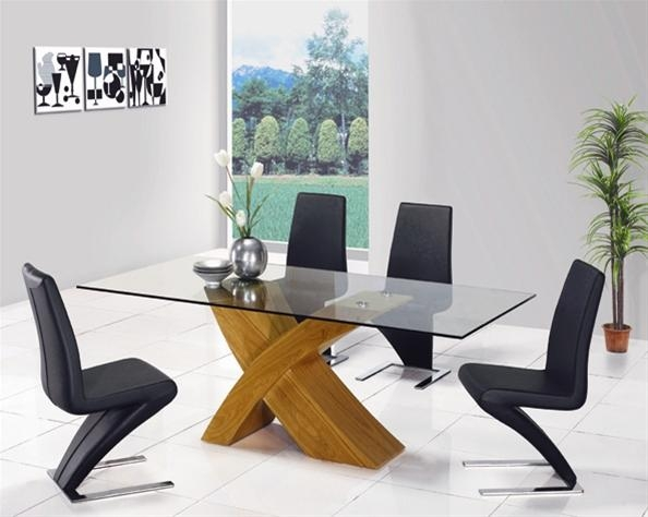 Design Contemporary Ideas: Oak Dining Tables For Glass Oak Dining Tables (Image 5 of 20)