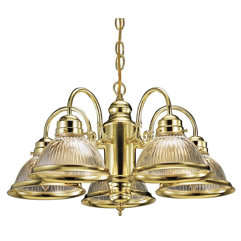 Design House Millbridge 5 Light Polished Brass Chandelier 500546 In Old Brass Chandeliers (Image 17 of 25)