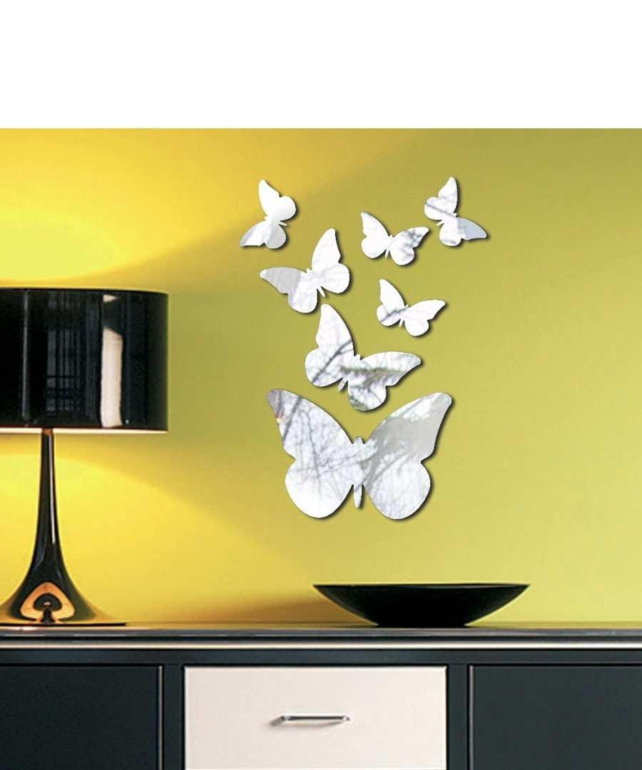 Design Ideas For 3D Butterfly Wall Décor — Unique Hardscape Design With Butterfly Wall Mirrors (Image 6 of 20)