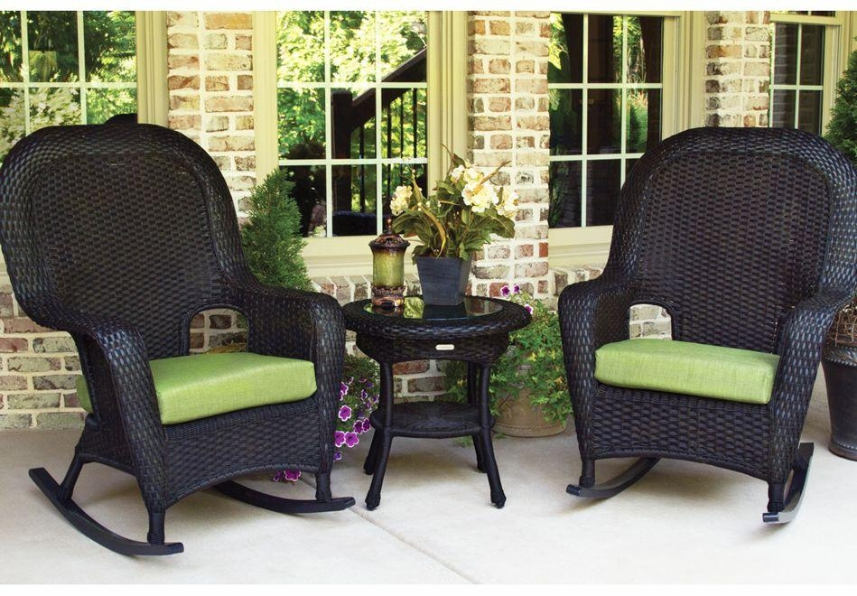 Design Ideas For Black Wicker Outdoor Furnitur #20689 Regarding Black Wicker Sofas (Image 7 of 20)