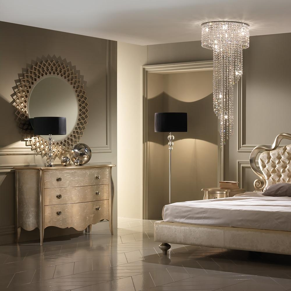 Designer Italian Champagne Leaf Round Mirror | Juliettes Interiors Within Champagne Mirror (Image 8 of 20)
