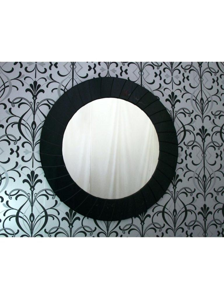 Designer Wall Mirrors Contemporary Best Setmodern Black Mirror Regarding Large Round Black Mirror (Image 4 of 20)