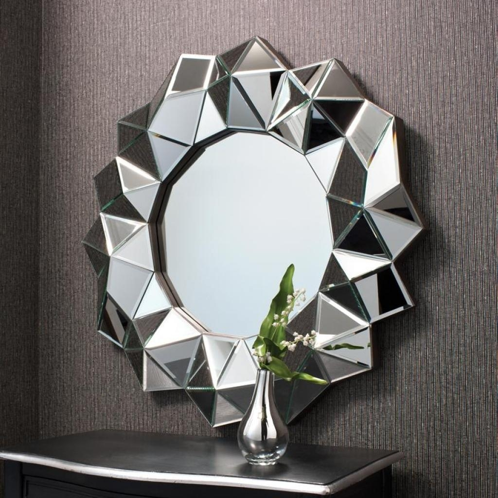 Designer Wall Mirrors Round Bathroom Mirrors Raundin Round For Designer Round Mirrors (Image 12 of 20)