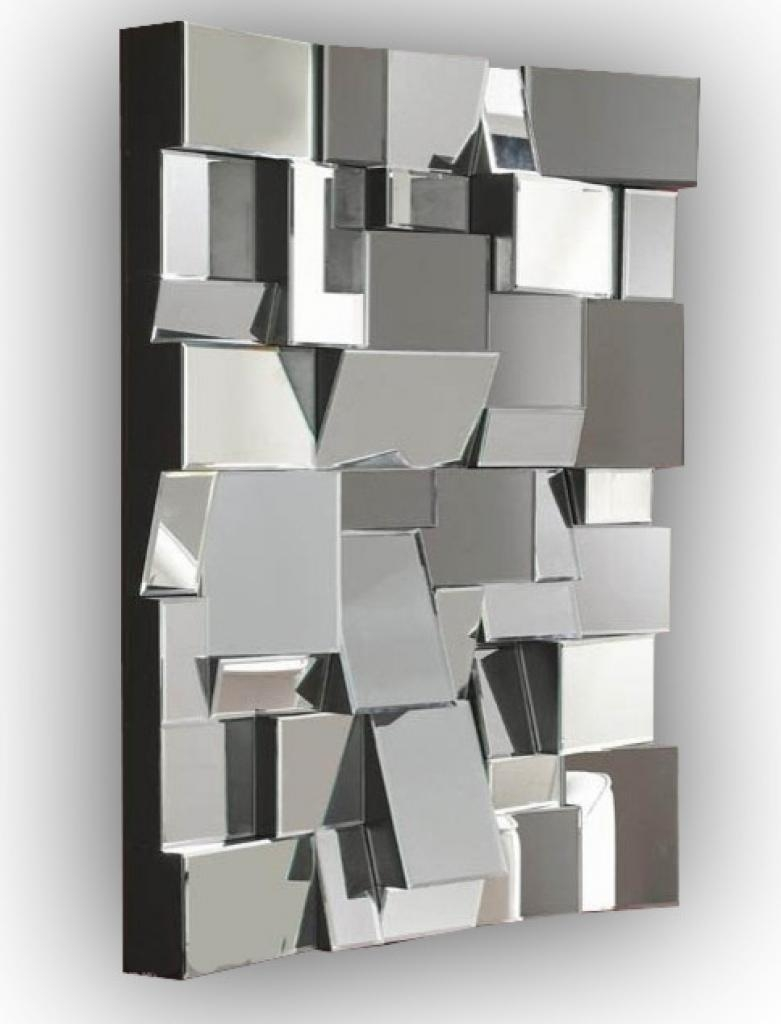 Designer Wall Mirrors White Abstract Mirror Contemporary Wall Inside Mirrors Contemporary (Image 14 of 20)