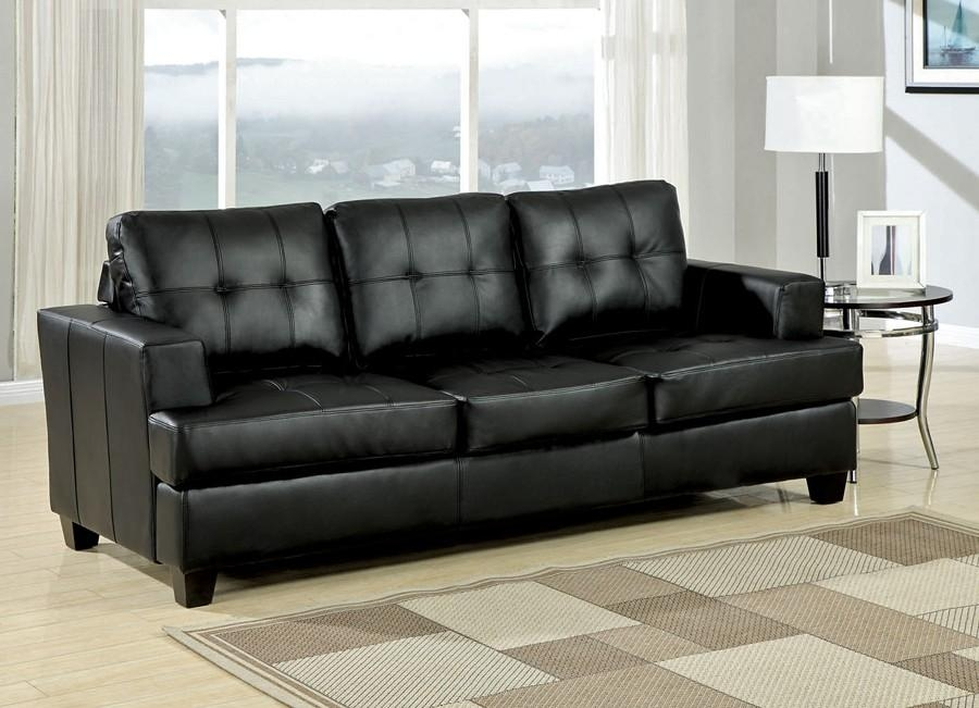 Diamond Black Leather Sofa Bed, Leather Sofa Beds – Avworld Throughout Contemporary Black Leather Sofas (View 15 of 20)
