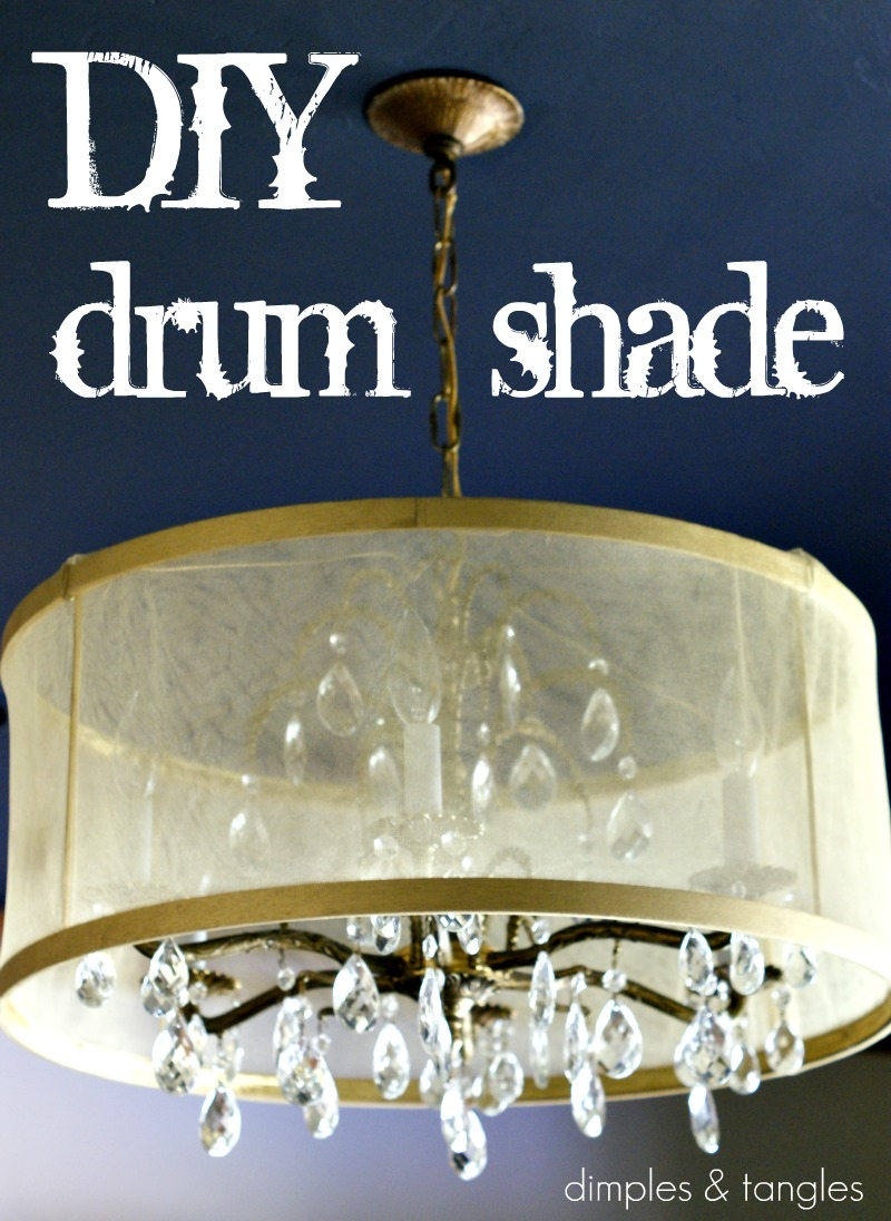 Dimples And Tangles Diy Drum Shade Tutorial Pertaining To Drum Lamp Shades For Chandeliers (View 23 of 25)