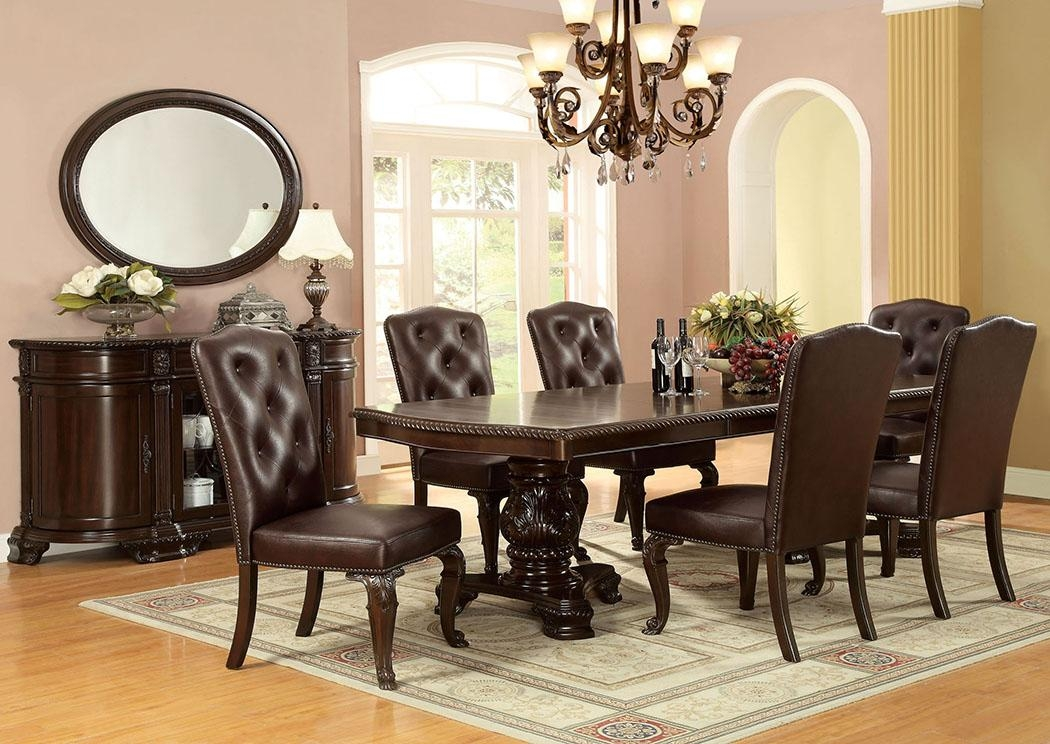 "Dinettes Plus Bellagio Dining Table W/2 18"" Leaf Throughout Bellagio Dining Tables (Image 14 of 20)"