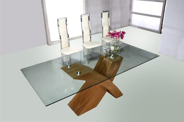 Dining Glass Table » Page 11 » Gallery Dining With Glass Oak Dining Tables (Image 9 of 20)