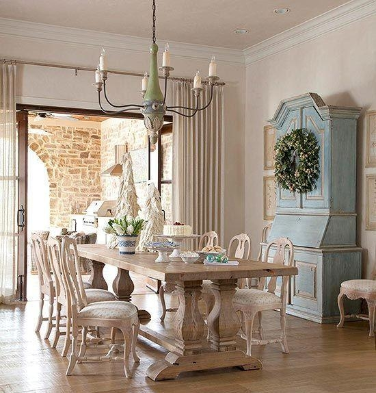 Dining Room: Astounding Provence Dining Spaces Design With Marble Regarding Provence Dining Tables (Image 8 of 20)