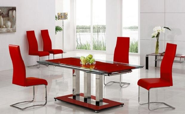 Top 20 Red Dining Table Sets | Dining Room Ideas