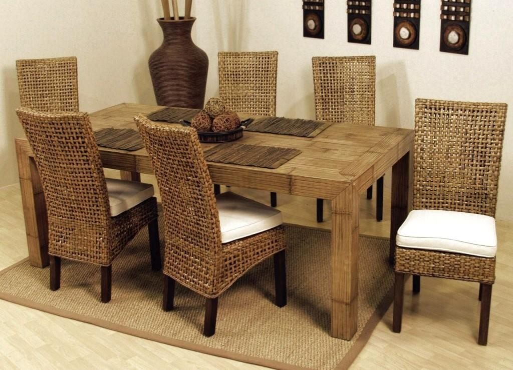 Dining Room: Cheap Wicker Rattan Dining Chairs Set Of 6 In High With Regard To Rattan Dining Tables And Chairs (Image 8 of 20)